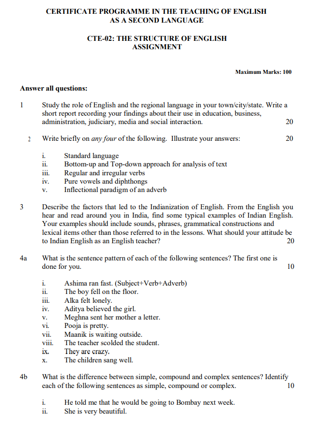 IGNOU CTE-02 Assignment July 2020