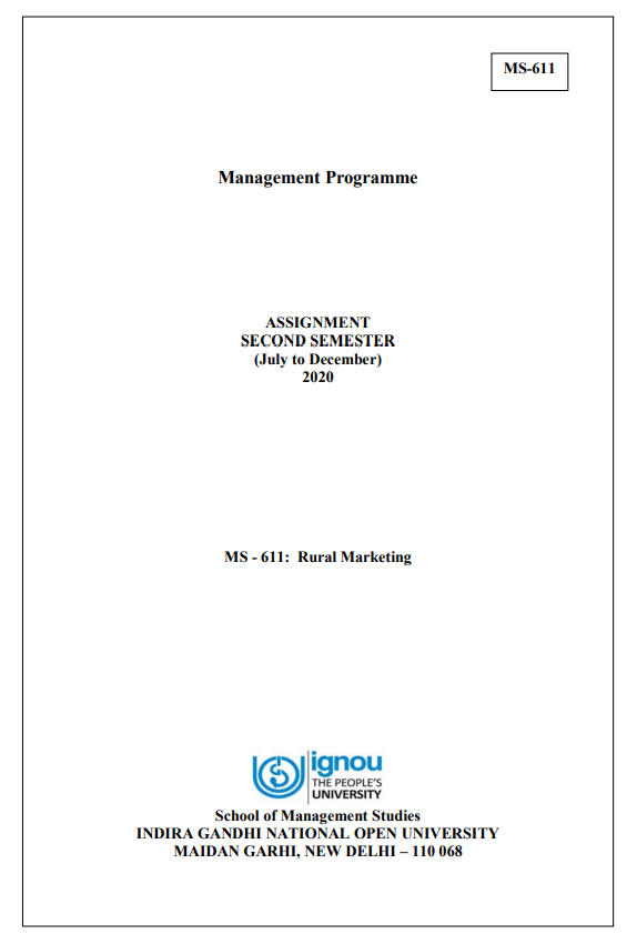 IGNOU MS-611 Assignment 2020